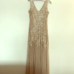 Gold/tan Adrianna Papell mermaid gown